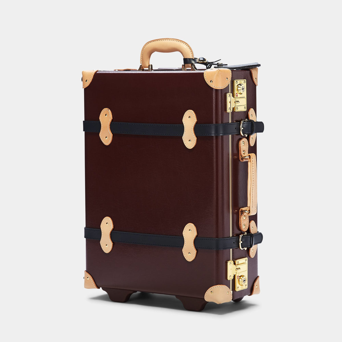 The Architect Carryon in Burgundy - Vintage Style Leather Case - Exterior Front