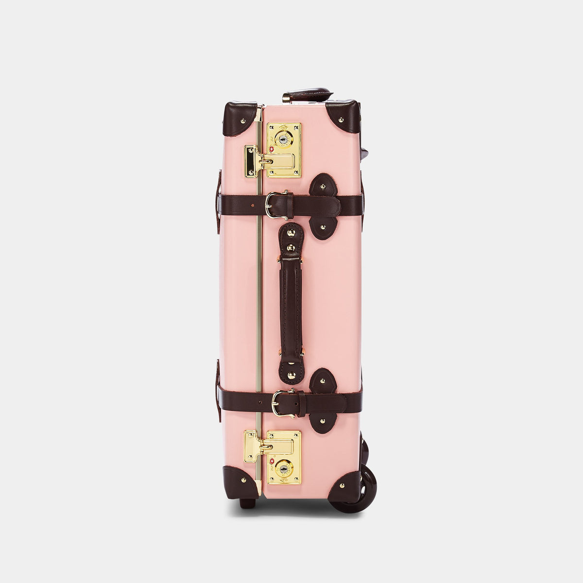 The Artiste Carryon in Pink - Old Fashioned Carry On Case - Exterior Side
