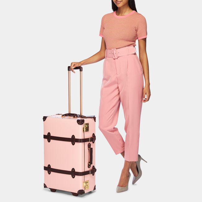 The Artiste Stowaway in Pink - Old Fashioned Suitcase - Exterior Front