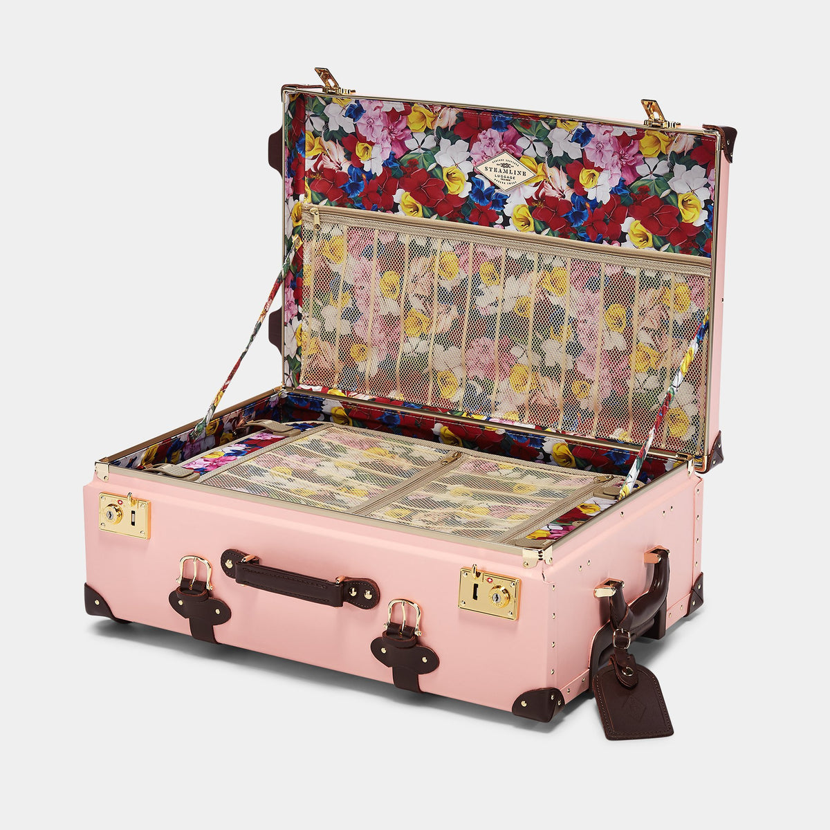 The Artiste Stowaway in Pink - Old Fashioned Suitcase - Interior Front