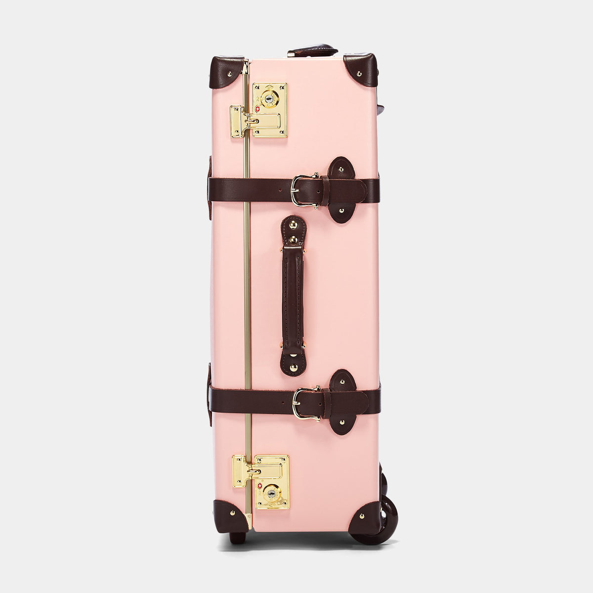 The Artiste Stowaway in Pink - Old Fashioned Suitcase - Exterior Side