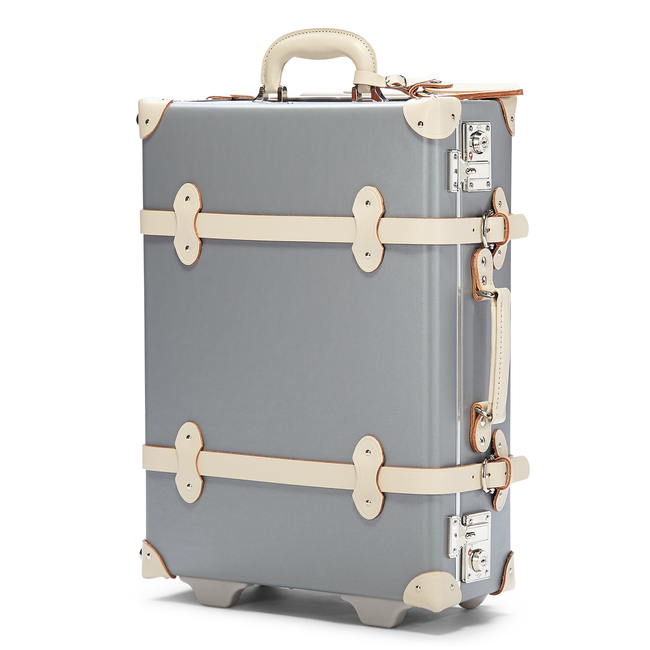The Botanist Carryon in Grey - Vintage-Inspired Cabin Luggage - Exterior