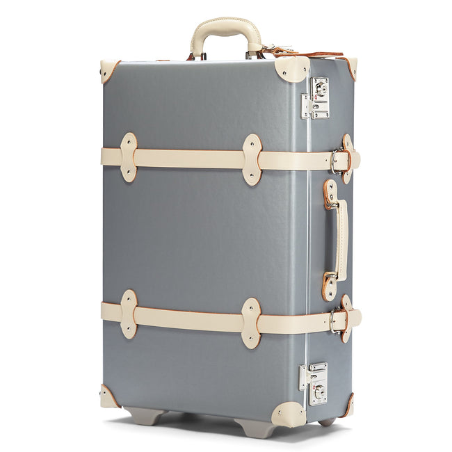 The Botanist Stowaway in Grey - Vintage-Inspired Luggage - Exterior Front