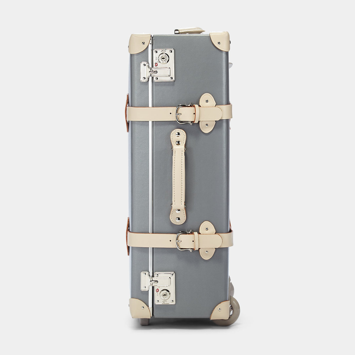 The Botanist Stowaway in Grey - Vintage-Inspired Luggage - Exterior side