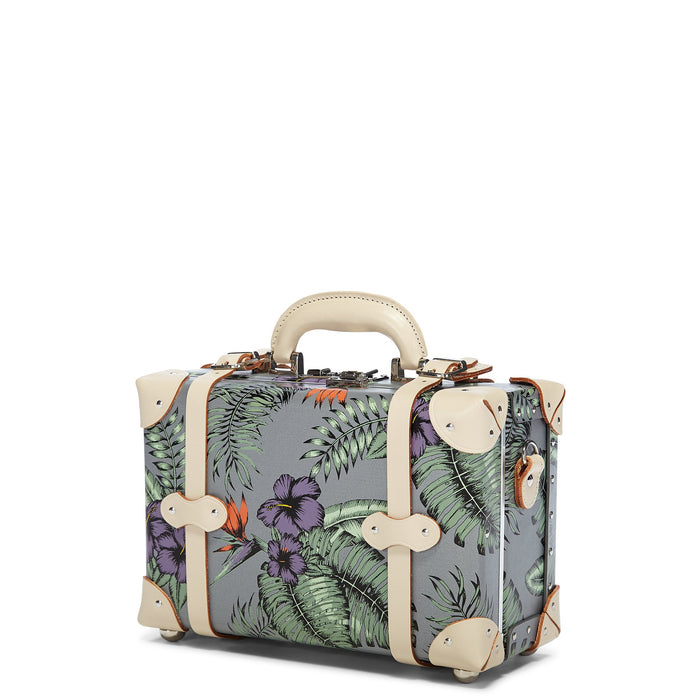 The Botanist Vanity in Grey - Vintage Inspired Vanity Case - Exterior Front