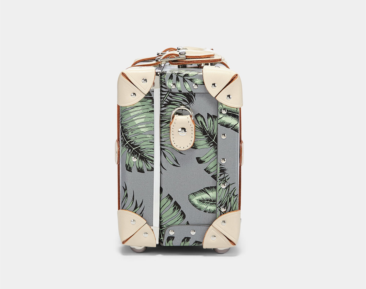 The Botanist Vanity in Grey - Vintage Inspired Vanity Case - Exterior Side