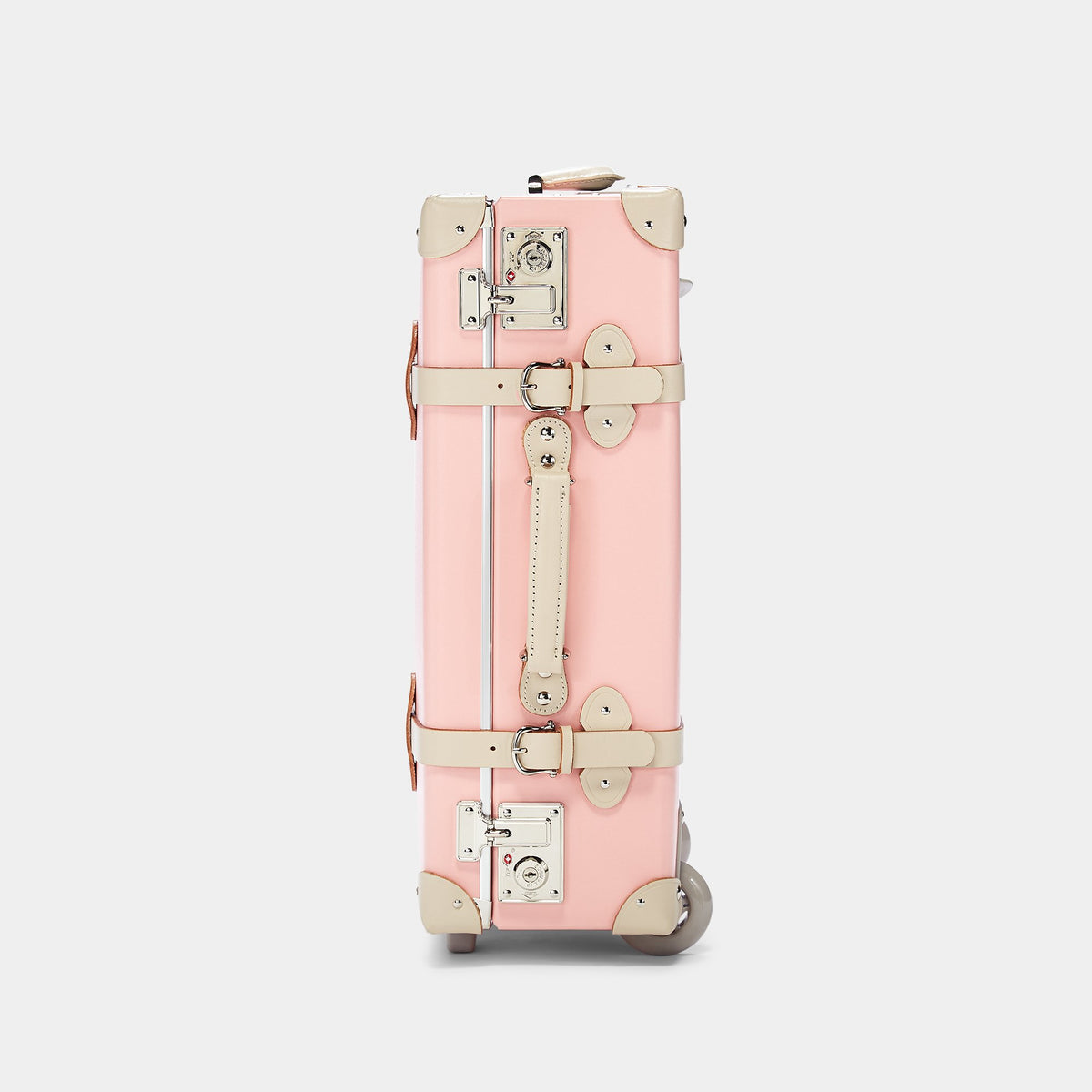 The Botanist Carryon in Pink - Vintage-Inspired Carry On Case - Exterior Side