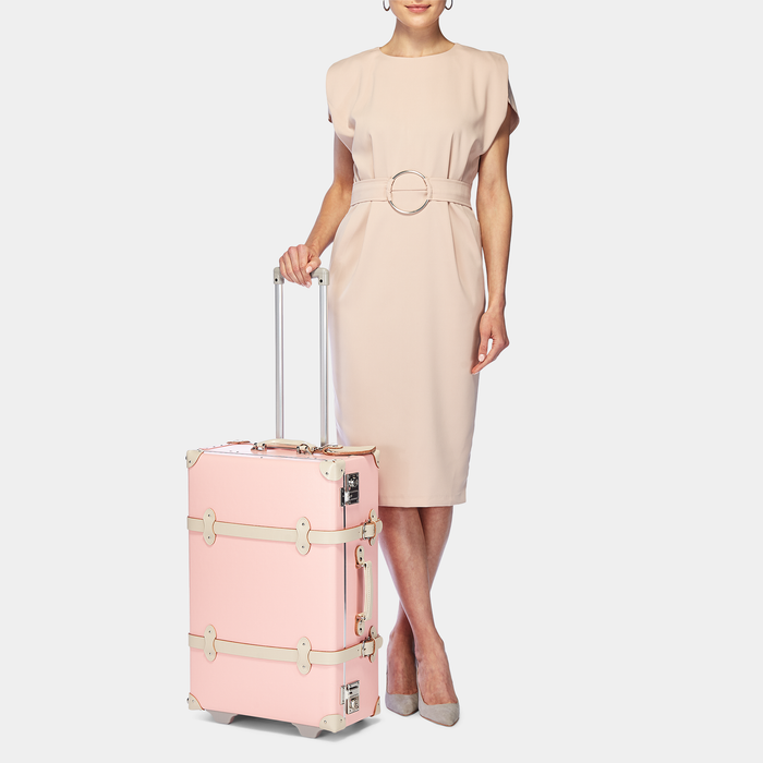 The Botanist Stowaway in Pink - Vintage-Inspired Suitcase - Exterior