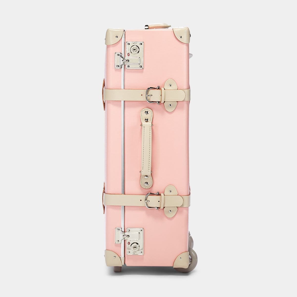The Botanist Stowaway in Pink - Vintage-Inspired Suitcase - Exterior Side