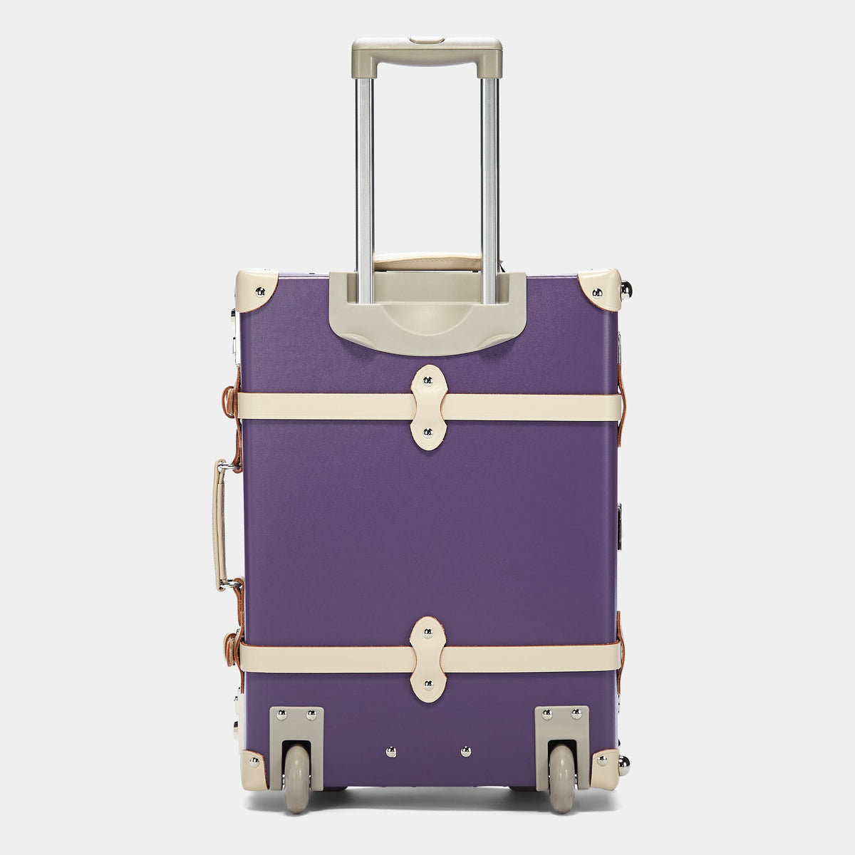 The Botanist Carryon in Purple - Vintage-Inspired Hand Luggage - Exterior with Extendable Handle