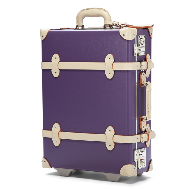 The Botanist Carryon in Purple - Vintage-Inspired Hand Luggage - Exterior