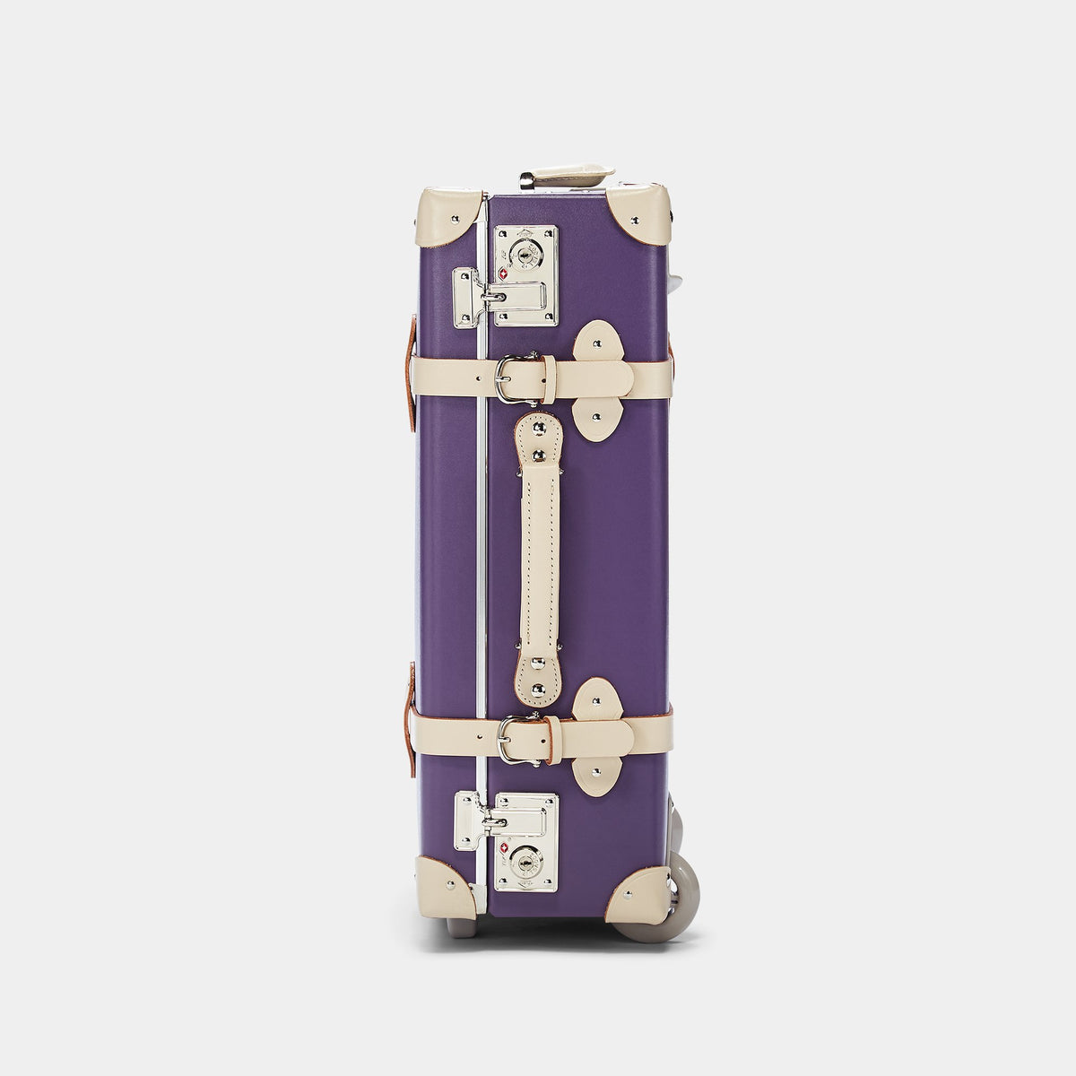 The Botanist Carryon in Purple - Vintage-Inspired Hand Luggage - Exterior Side