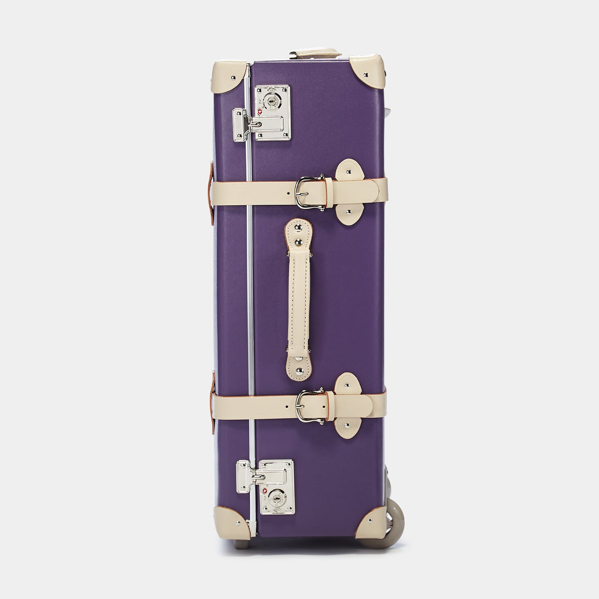 The Botanist Stowaway in Purple - Vintage-Inspired Suitcase - Exterior Side