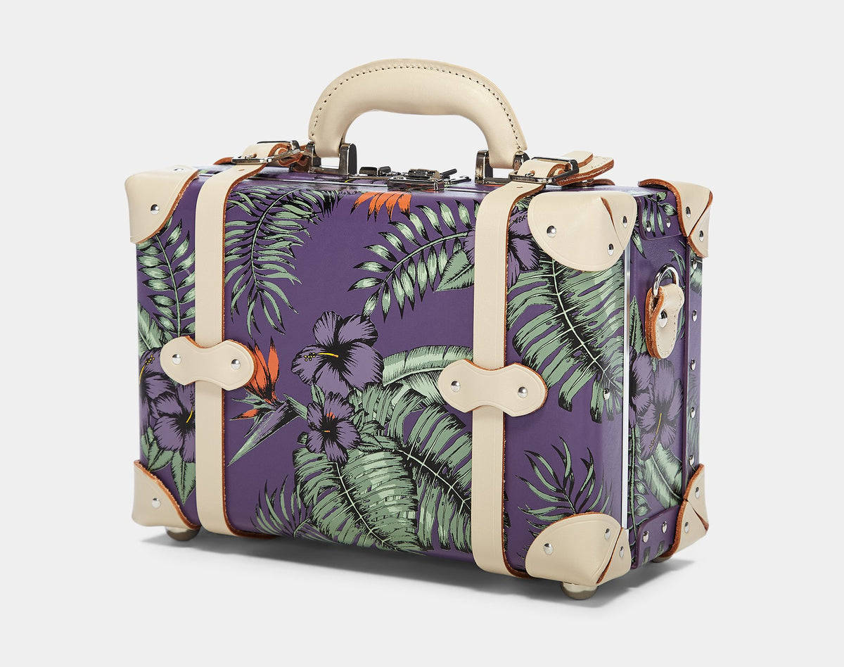 The Botanist Vanity in Purple - Vintage Inspired Vanity Case - Exterior