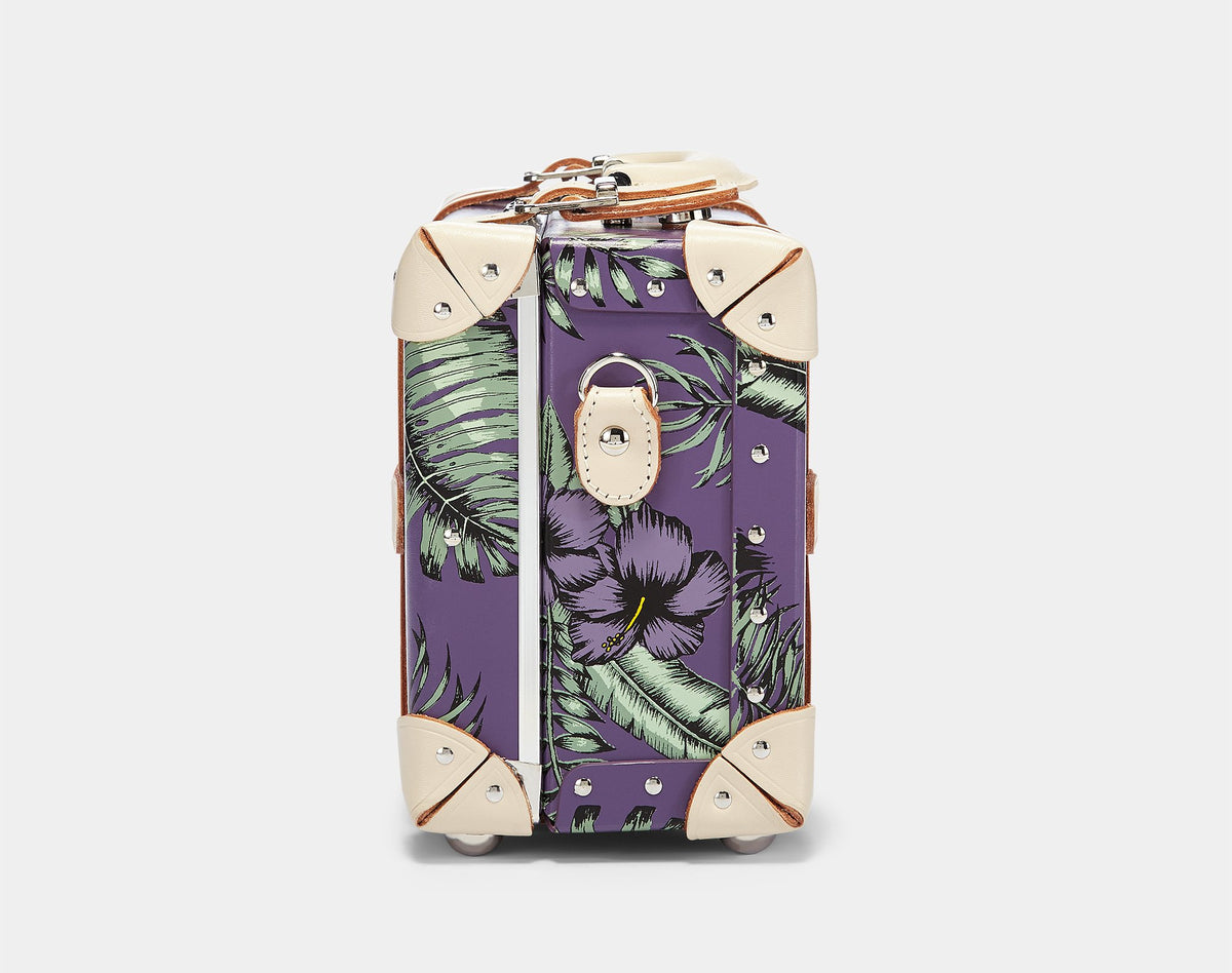 The Botanist Vanity in Purple - Vintage Inspired Vanity Case - Exterior Side
