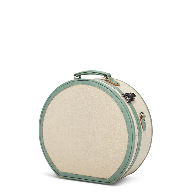 The Editor Hatbox Large in Seagreen - Hat Box Luggage - Exterior Front