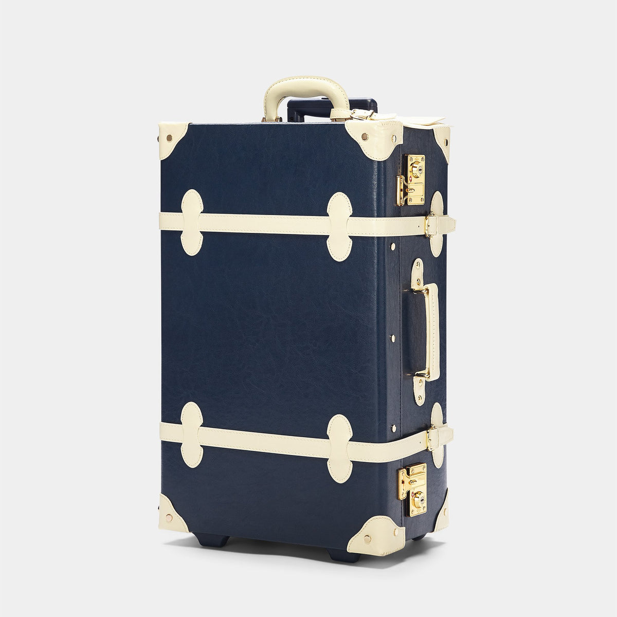 The Entrepreneur Stowaway in Navy - Vintage-Inspired Luggage - Exterior Front