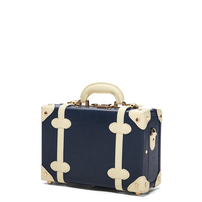 The Entrepreneur Vanity in Navy - Vintage-Inspired Luggage - Exterior Front