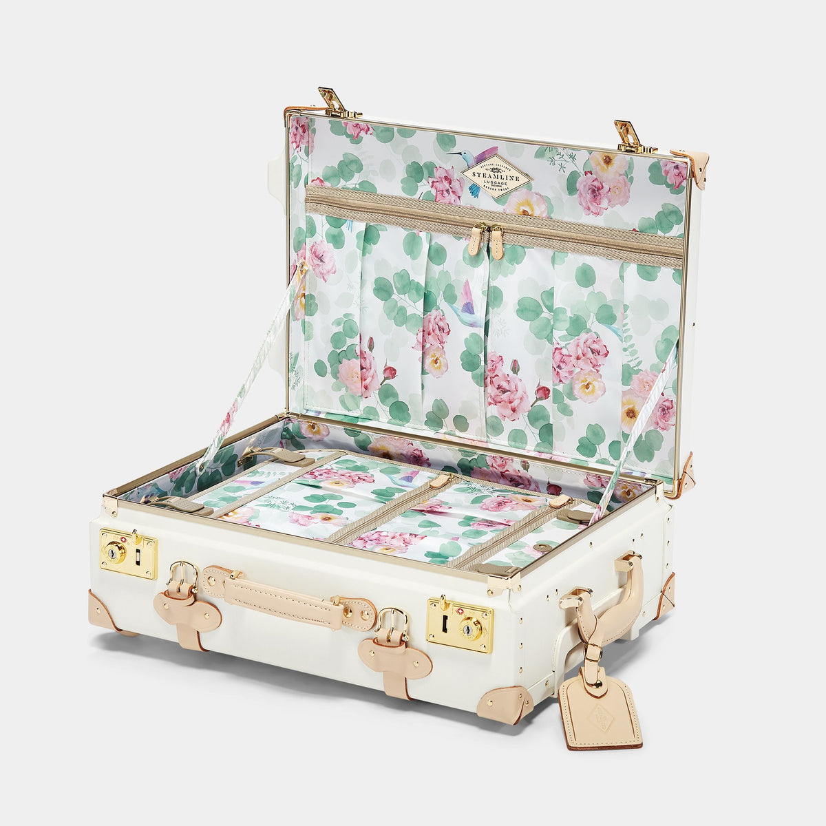 The Sweetheart Carryon - Vintage-Inspired Luggage - Interior Front