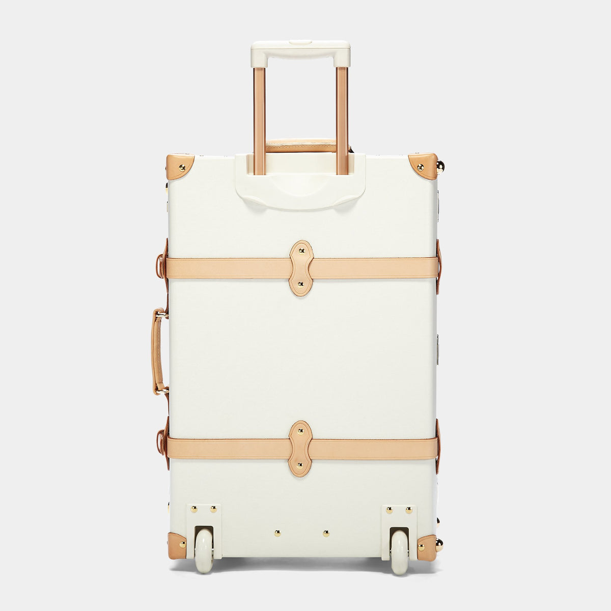 The Sweetheart Stowaway - Vintage-Inspired Luggage - Exterior Back with Extendable Handle
