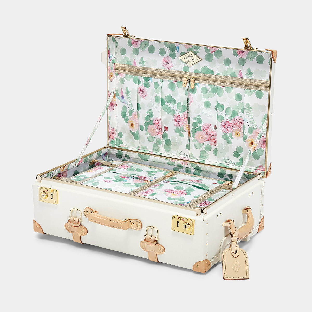The Sweetheart Stowaway - Vintage-Inspired Luggage - Interior Front
