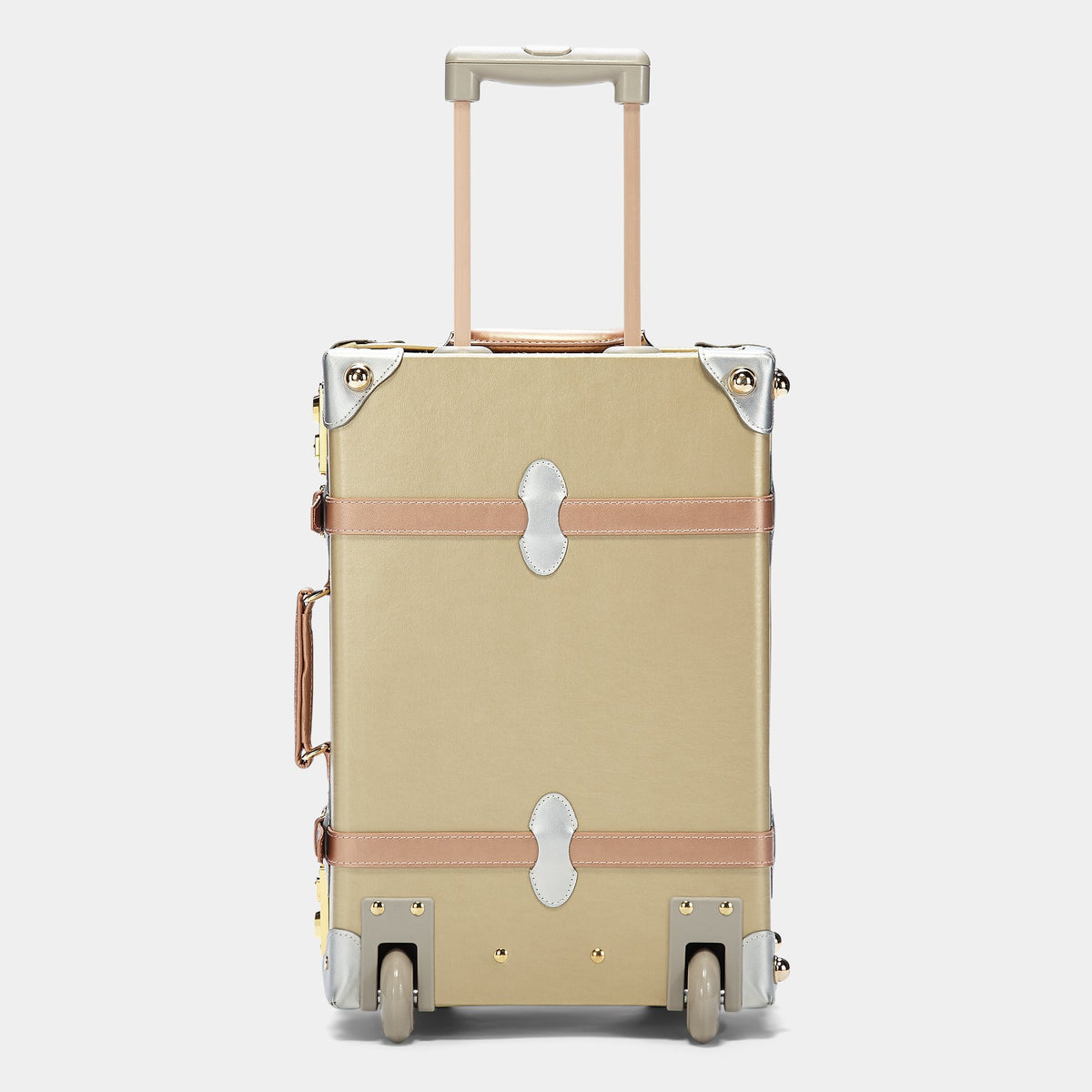 The Alchemist Carryon - Retro-Style Cabin Luggage - Exterior back with extended handle