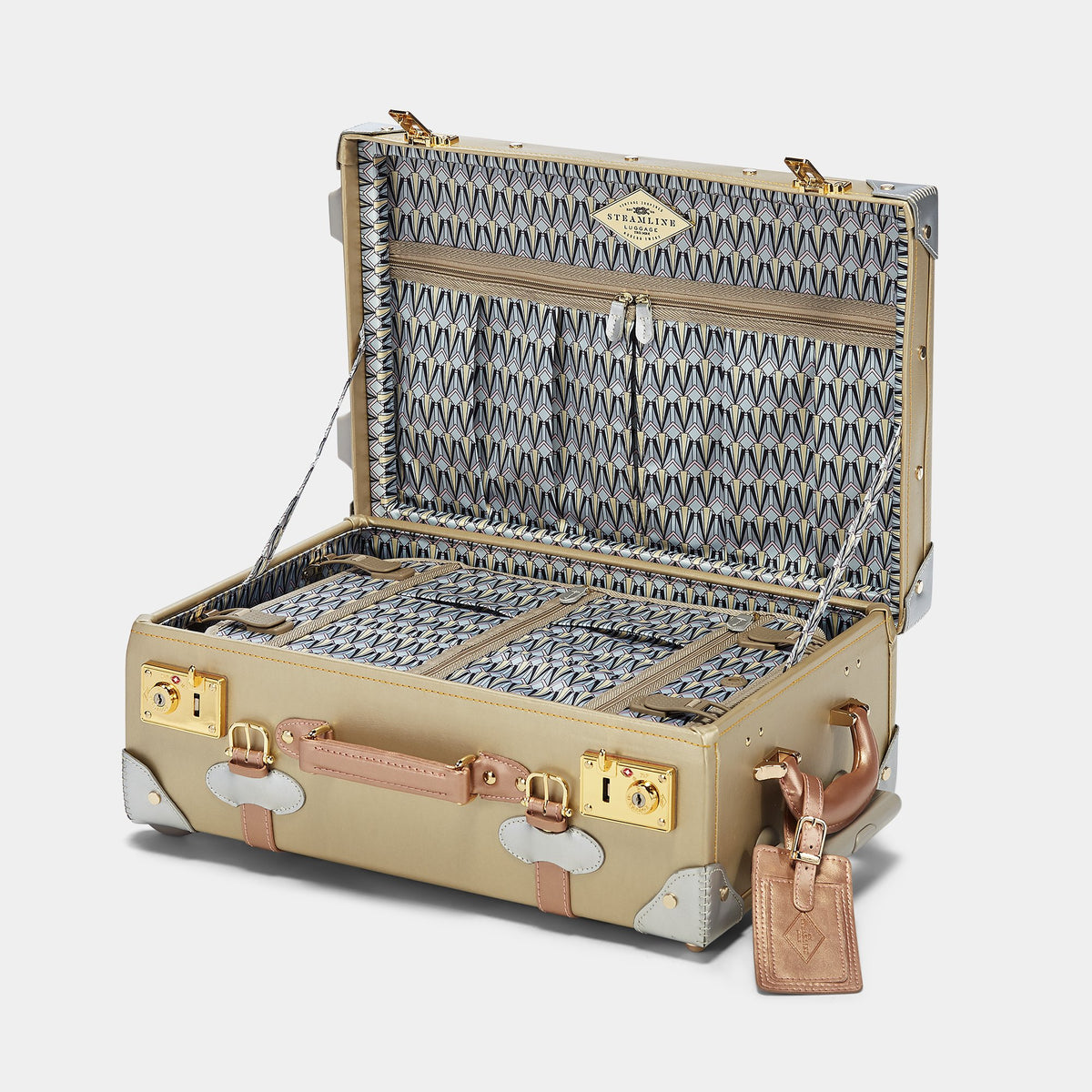 The Alchemist Carryon - Retro-Style Cabin Luggage - Interior Front