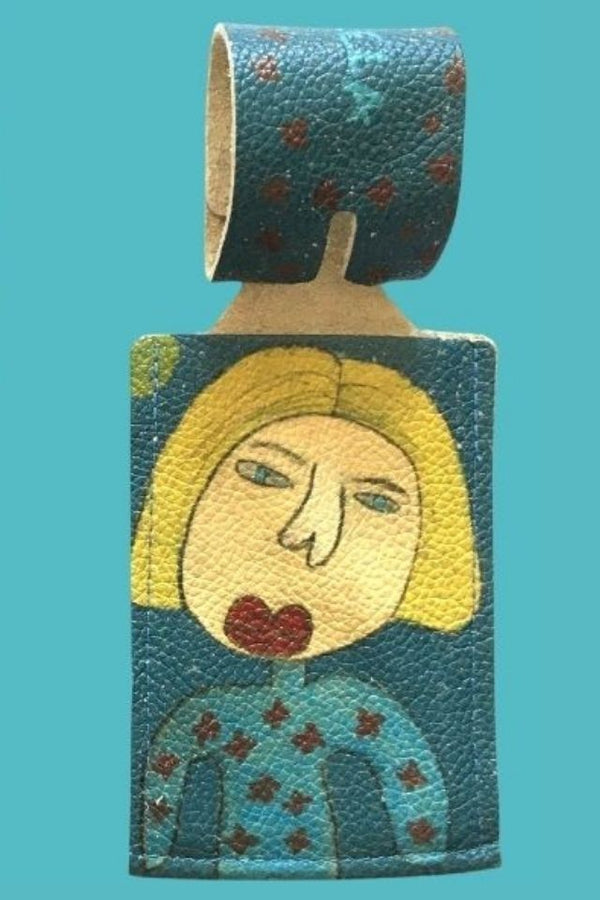 Blonde Luggage Tag