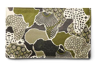 """Africa"" 100% Leather Clutch"