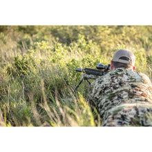 Load image into Gallery viewer, Veil Camo Hunter 42 bipod being used in the prone position