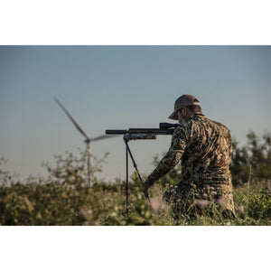 Veil Camo Swagger Hunter 42 bipod being used in South Texas