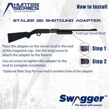 Load image into Gallery viewer, Swagger Bipod QD Shotgun Adapter instructions
