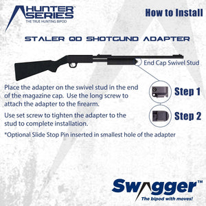 Swagger Bipod QD Shotgun Adapter instructions