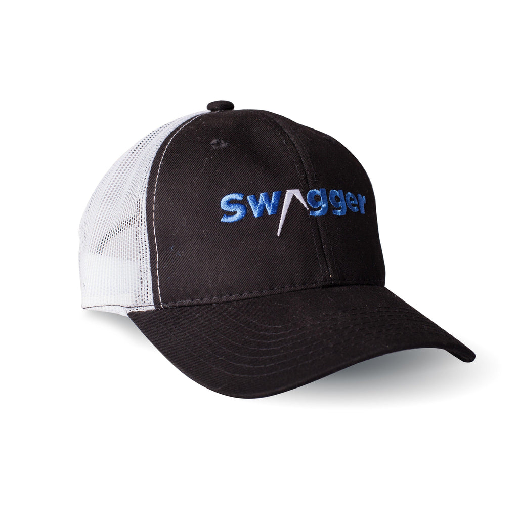 Swagger black and gray mesh trucker hat