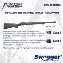 Load image into Gallery viewer, Instructions for installing the Swagger Bipod QD Swivel Stud Adapter