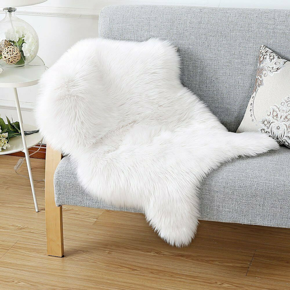 SHEEP SKIN FAUX CHAIR COVER
