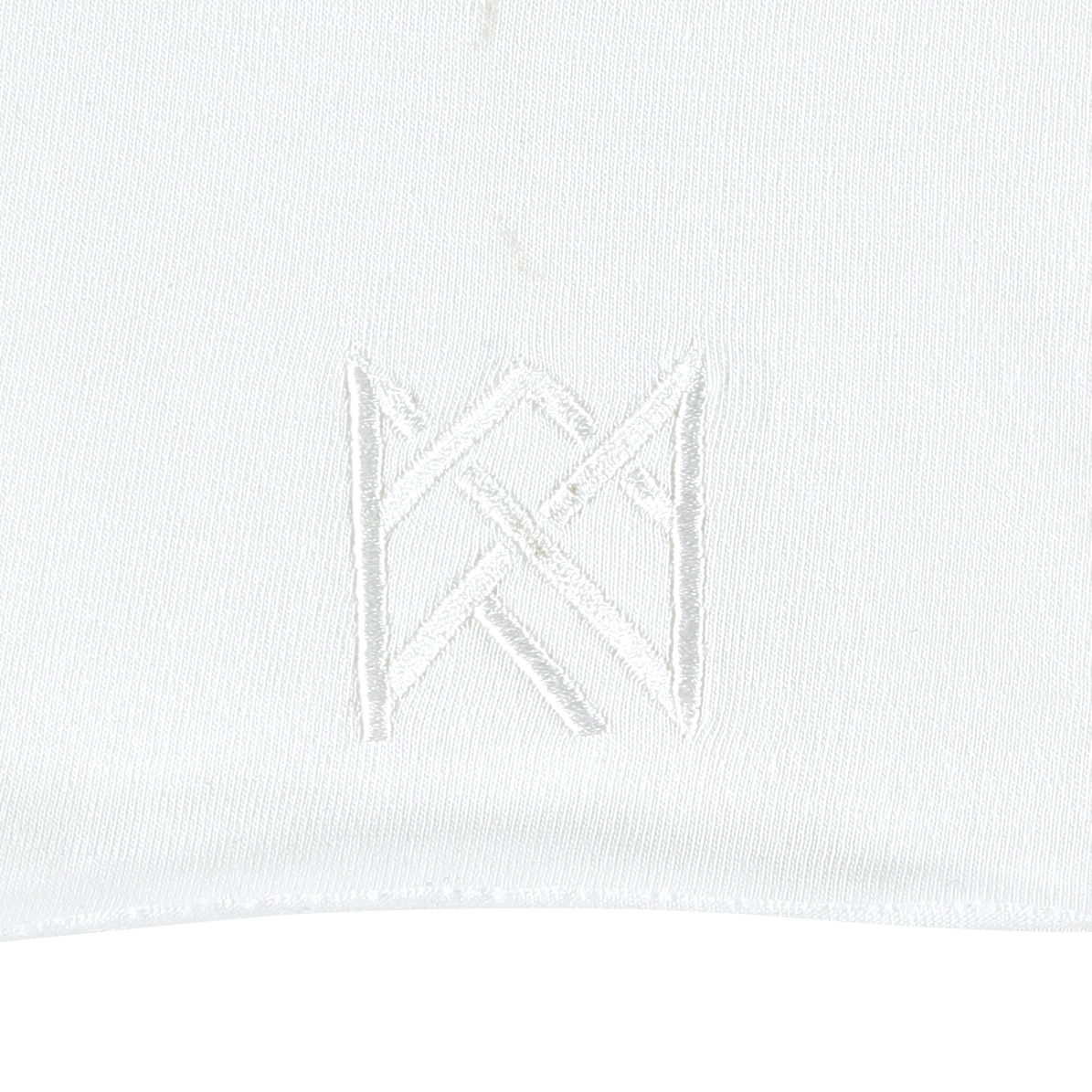 WHITE RAW EDGE T-SHIRT