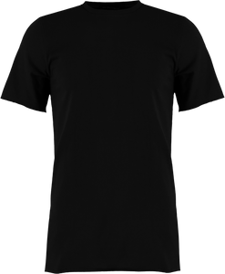 BLACK RAW EDGE T-SHIRT