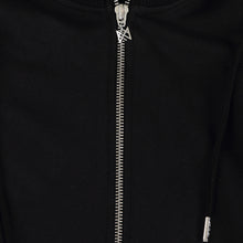 Load image into Gallery viewer, KNIGHTS SIGNATURE BLACK SILVER LONG HOODIE SWEAT COAT