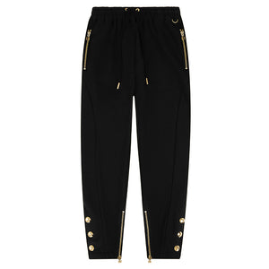 DUKE BLACK GOLD TAPERED PRESS STUD JOGGER