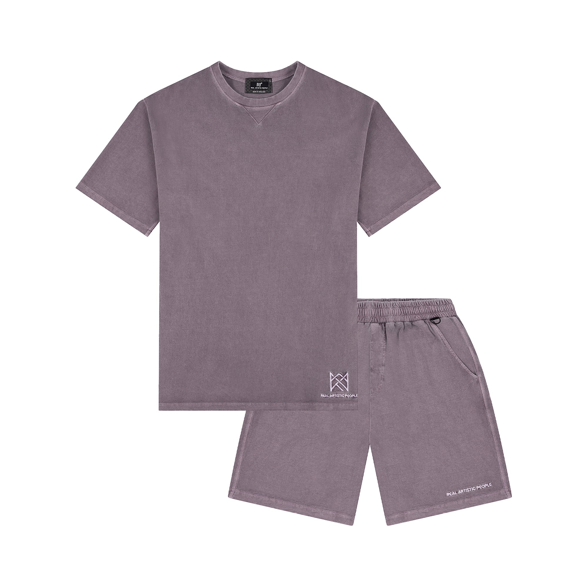 HEIR TEE AND SHORTS TWIN SET - VINTAGE PURPLE