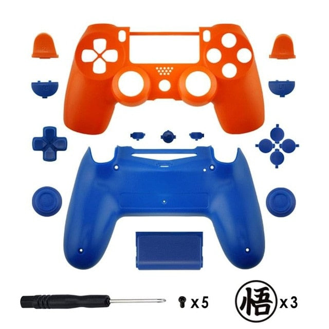 Replacement Full shell and buttons mod kit For jds 040 DualShock 4  PlayStation 4 PS4 Pro Slim Anime theme Housing Cover Case