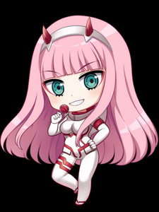Zero Two Chibi (white) - Decal