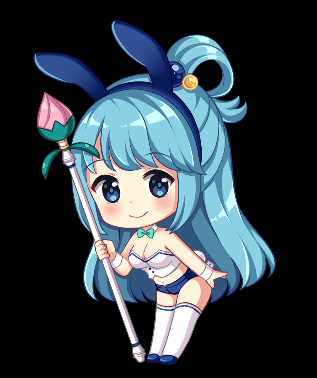Aqua Chibi Konosuba Sticker Decal Transfer Sticker Waifu Wars Bunny Version