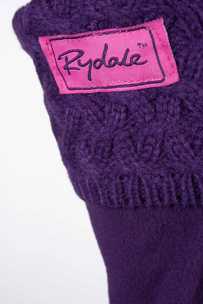 Damson - Cable Knit Boot Liner
