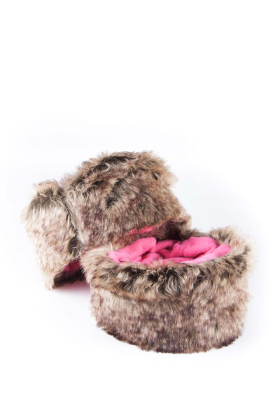 Grey/Candy - Rydale Ladies Fur Boot Liners