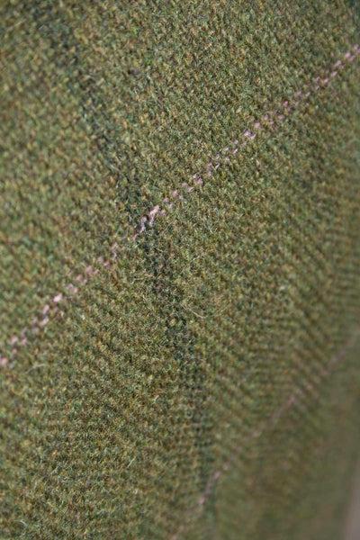 Olive / Pink - Girls Tweed Jacket