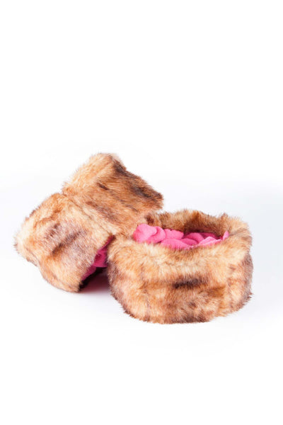 Brown/Candy - Rydale Ladies Fur Boot Liners