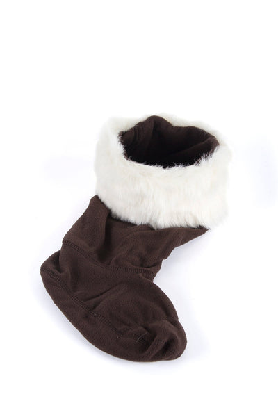 White/Totem - Rydale Ladies Fur Boot Liners
