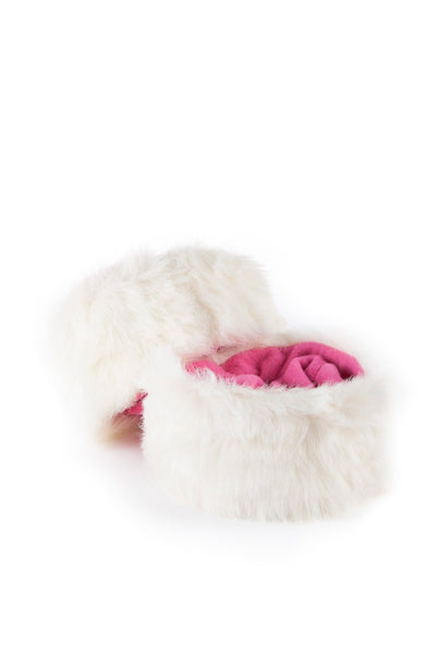 White/Candy - Rydale Ladies Fur Boot Liners